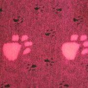 Drybed Premium Rutschfest, in pink mit Pfoten